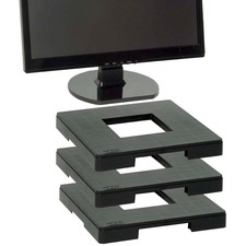DAC Standard Monitor Riser Block - 34.93 kg Load Capacity - Flat Panel Display Type Supported - Black