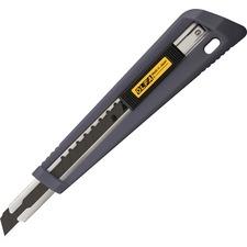 Olfa NA1 Handsaver Cushion Grip Auto Lock Cutter - Locking Blade, Auto-lock, Durable - Stainless Steel - 1 Each