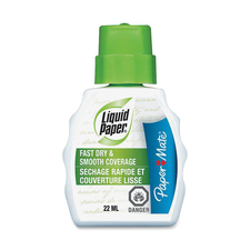 Paper Mate Liquid Paper Fast Dry Correction Fluid - 22 mL - White