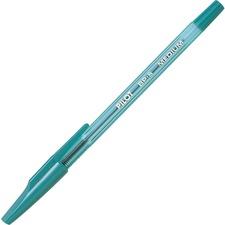 Better Ballpoint Stick Pen - Medium Pen Point - Refillable - Green - Clear Barrel - Stainless Steel Tip - 1 Each