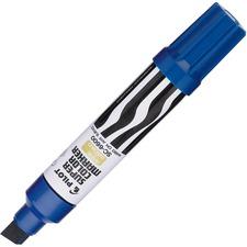 Pilot Jumbo Refillable Permanent Marker - 10 mm Marker Point Size - Chisel Marker Point Style - Refillable - Blue - 1 Each