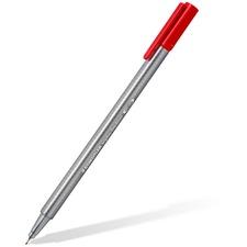 Staedtler Triplus Fineliner 334 - Extra Fine Pen Point - 0.3 mm Pen Point Size - Red - Polypropylene Barrel - Metal Tip