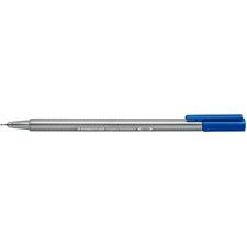 Staedtler Triplus Fineliner 334 - Super Fine Pen Point - 0.3 mm Pen Point Size - Blue Water Based Ink - Polypropylene Barrel - Metal Tip -