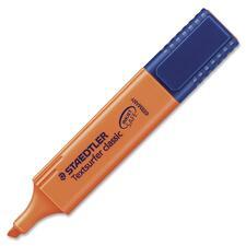 Staedtler Textsurfer Classic Highlighter - Broad Marker Point - 1.5 mm Marker Point Size - Chisel Marker Point Style - Refillable - Fluorescent Orange - Polypropylene Barrel - 1 Each