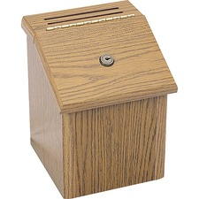 SAF 4230MO Safco Locking Wood Suggestion Box SAF4230MO