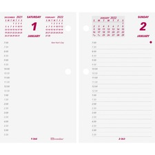 "Brownline Jumbo Calendar Pad Refill - Daily - 1 Year - January 2019 till December 2019 - 7:00 AM to 6:30 PM - 1 Day Double Page Layout - 6"" x 3 1/2"" - White - Paper - Reference Calendar"
