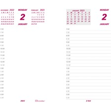 """Brownline Jumbo Calendar Pad Refill - Daily - 1 Year - January 2020 till December 2020 - 7:00 AM to 6:30 PM - 1 Day Double Page Layout - 6"""" x 3 1/2"""" - White - Paper - Reference Calendar"""