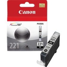 Canon CLI-221BK Original Ink Cartridge - Inkjet - 342 Pages - Black - 1 Each