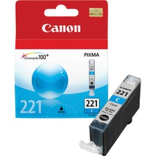 Canon CLI-221C Original Ink Cartridge - Inkjet - 535 Pages - Cyan - 1 Each