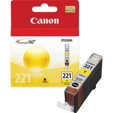 Canon CLI-221Y Original Ink Cartridge - Inkjet - 530 Pages - Yellow - 1 Each
