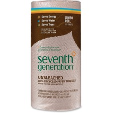 SEV 13720 Seventh Gen. Recycled Natural Brown Paper Towels SEV13720