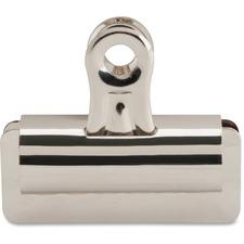"Sparco Bulldog Grip Clips - 2.63"" (66.68 mm) Length x 3"" (76.20 mm) Width - 12 / Box - Silver - Steel"