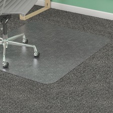 "Lorell Rectangular Medium Pile Chairmat - Carpeted Floor - 60"" (1524 mm) Length x 46"" (1168.40 mm) Width x 0.13"" (3.38 mm) Thickness - Rectangle - Vinyl - Clear"