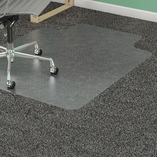 "Lorell Standard Lip Low-pile Antistatic Chairmat - Carpeted Floor - 48"" (1219.20 mm) Length x 36"" (914.40 mm) Width x 0.12"" (3.10 mm) Thickness - Lip Size 12"" (304.80 mm) Length x 20"" (508 mm) Width - Rectangle - Clear"