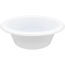 Genuine Joe Reusable Plastic Bowls - Bowl - Plastic Bowl - White