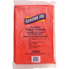 GJO 10326 Genuine Joe Plastic Rectangular Table Covers GJO10326