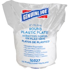 GJO 10327 Genuine Joe Disposable Plastic Plates GJO10327