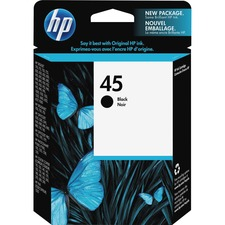 HP 45 (51645A) Original Ink Cartridge - Single Pack - Inkjet - 830 Pages - Black - 1 Each