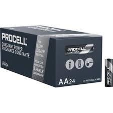 Duracell Procell Alkaline AA Battery - PC1500 - For Multipurpose - AA - 1.5 V DC - 2100 mAh - Alkaline - 24 / Box