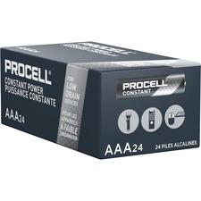 Duracell Procell Alkaline AAA Battery - PC2400 - For Multipurpose - AAA - 1.5 V DC - Manganese Dioxide (MnO2) - 24 / Box