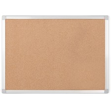 """MasterVision Aluminum Frame Recycled Cork Boards - 48"""" (1219.20 mm) Height x 72"""" (1828.80 mm) Width - Cork Surface - Aluminum Frame - 1 Each"""