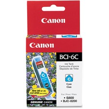 Canon CNMBCI6C Original Ink Cartridge - Inkjet - 370 Pages - Cyan - 1 Each