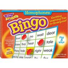 TEP 6132 Trend Homonyms Bingo Game TEP6132