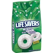 Life Savers Wint O Green Mints Bag - 3 lb. 2 oz. - Wint-O-Green, Mint - 3.12 lb - 1 Bag