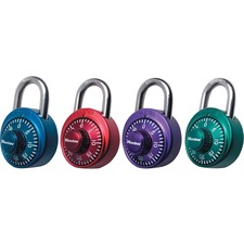 "Master Lock Assorted Numeric Combination Locks - 3 Digit - Master Keyed - 0.28"" (7 mm) Shackle Diameter - Cut Resistant - Stainless Steel Body, Steel Shackle - Assorted - 1 / Each"