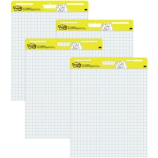 MMM560VAD4PK - Post-it Self-Stick Easel Pads Value Pack, 25 in x 30 in, White with Faint Grid
