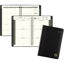 AAG70100G05 - At-A-Glance 100% Recycled Weekly/Monthly Appointment Book