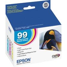 Epson No. 99 Original Ink Cartridge - Inkjet - Cyan, Magenta, Yellow, Light Cyan - 1 Each