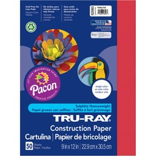 PAC 102993 Pacon Tru-Ray Heavyweight Construction Paper PAC102993