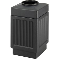 SAF 9475BL Safco Indoor/Outdoor Waste Receptacle SAF9475BL