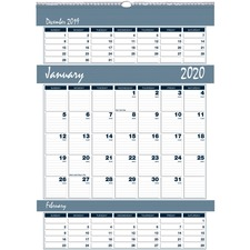 HOD 343 Doolittle Bar Harbor Triple Month Wall Calendars HOD343