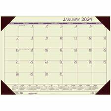 HOD 12443 Doolittle EcoTones Monthly Calendar Desk Pad  HOD12443