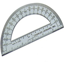 "LEO 77106 Charles Leonard 6"" Open Center Protractor LEO77106"