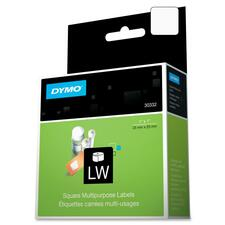 "Dymo LabelWriter Square Multipurpose Labels White - 1"" Width x 1"" Length - Direct Thermal - White - 750 / Roll - 750 / Box"