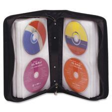 DAC Padded CD/DVD Wallet - Wallet - Nylon, Polypropylene - Black - 128 CD/DVD