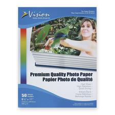 "Vision Photo Paper - Letter - 8 1/2"" x 11"" - Glossy - 50 / Pack - White"