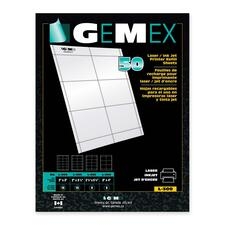 """Gemex Name Badge Refill Sheets - 4"""" (101.60 mm) x 3"""" (76.20 mm) x - 300 / Pack - White"""