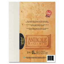 "First Base Bond Paper - Letter - 8 1/2"" x 11"" - 24 lb Basis Weight - 100 / Pack - Aged"
