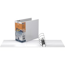 "QuickFit QuickFit Locking Angle D-ring View Binder - 5"" Binder Capacity - D-Ring Fastener(s) - White - Recycled - Locking Ring, Heavy Duty - 1 Each"