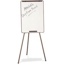 """Quartet Adjustable Flip-Chart/Dry Erase Easel - 26"""" (2.2 ft) Width x 24"""" (2 ft) Height - Melamine Surface - Black Metal Frame - 1 Each"""