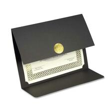 First Base Recycled Certificate Holder - Linen - Black - 30% Recycled - 5 / Pack