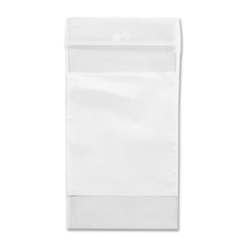 "Crownhill Reclosable Poly Bag - 3"" (76.20 mm) Width x 2"" (50.80 mm) Length x 2 mil (51 Micron) Thickness - Clear, White - Vinyl - 100/Pack - Food, Storage"
