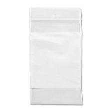 "Crownhill Reclosable Poly Bag - 5"" (127 mm) Width x 3"" (76.20 mm) Length x 2 mil (51 Micron) Thickness - Clear, White - Vinyl - 100/Pack - Food, Storage"