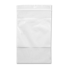 "Crownhill Reclosable Poly Bag - 6"" (152.40 mm) Width x 4"" (101.60 mm) Length - Clear, White - Vinyl - 100/Pack - Food, Storage"