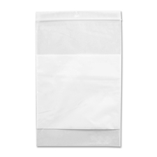 "Crownhill Reclosable Poly Bag - 9"" (228.60 mm) Width x 6"" (152.40 mm) Length x 2 mil (51 Micron) Thickness - Clear, White - 100/Pack - Food, Storage"