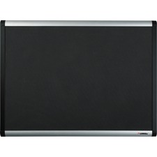 LLR 75696 Lorell Black Mesh Fabric Covered Bulletin Board LLR75696